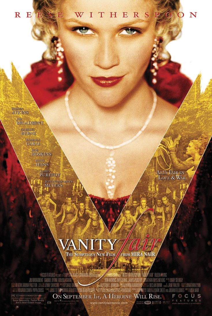 Reece Witherspoon as Becky Sharp in Thackeray's Vanity Fair. Another Heartbeat in the House.