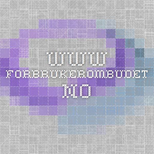 www.forbrukerombudet.no
