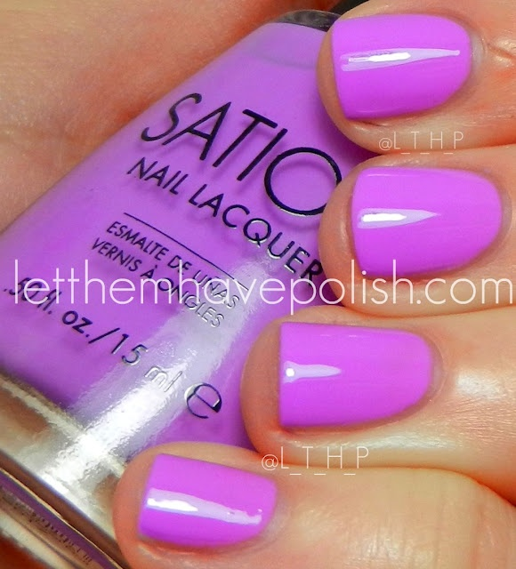 Let Them Have Polish Sation Miss Pro Nail Swatchies Love At First Lavender