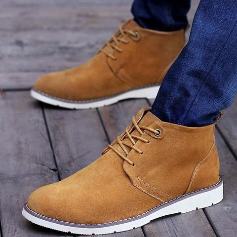 Lace Up Chukka Suede Boots (3 Colors)  #TakeClothe #Mensfashion #Fashion #Streetstyle #Shoes