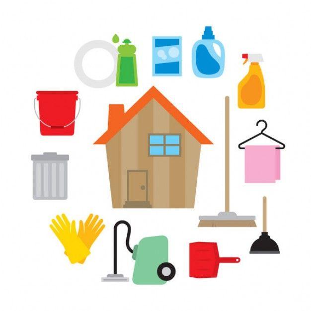 Jeu d'icônes de l'environnement pour la maison Vecteur gratuit