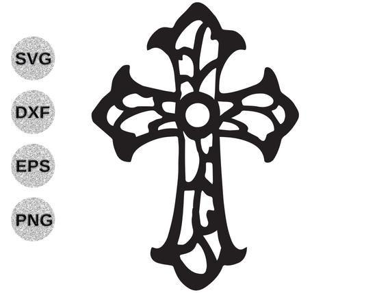 Cross Svg Fancy Cross Svg Cross Filagree Svg Cross Fretwork Etsy In 2021 Cross Svg Cross Clipart Cross Silhouette
