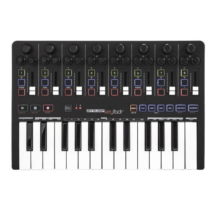El Reloop Keyfadr combina algunas de las más útiles funciones de control para producción musical en una compacta y versátil unidad de control para Ableton LIVE