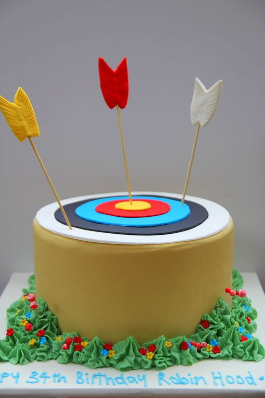 Robin Hood Birthday Cake Fun Kid S Cakes Pinterest