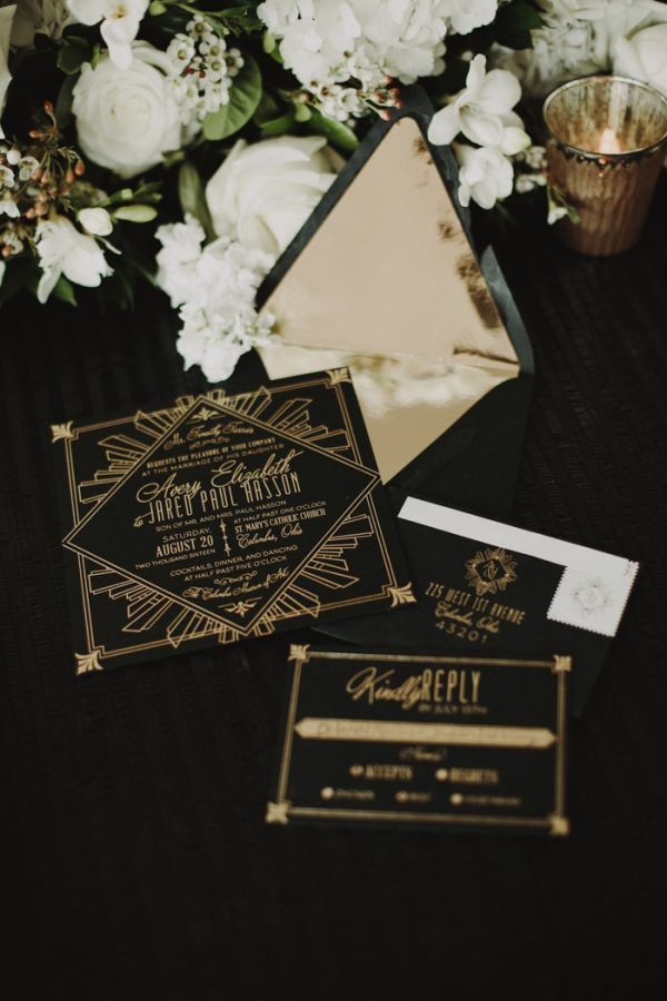 3882 best Art Deco Wedding Invitation images on Pinterest | News ...