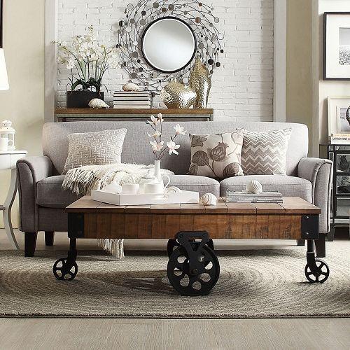 Homevance Remmington Sofa Grey Condo Living Apartment Living And Living Rooms