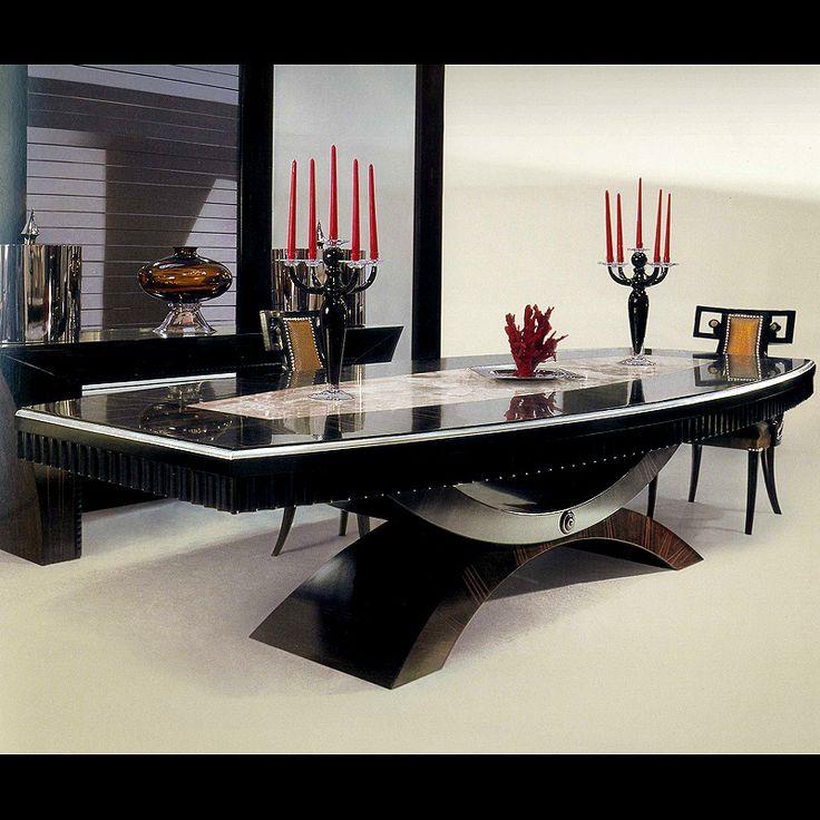 MACASSAR EBONY TABLE WITH BACK LIT ONYX | Taylor Llorente Furniture
