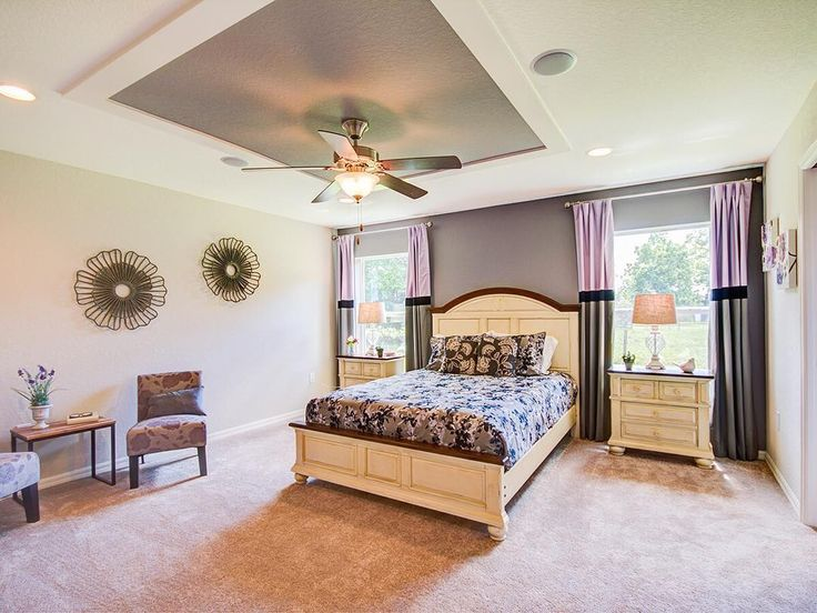 The Regal Master Suite In Our Parker Home Plan Showcases Shades Of Lilac And Gray That Make The