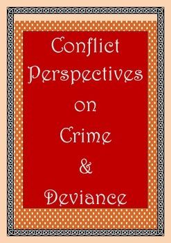 This handout summarises the conflict perspectives on crime and deviance. This can be either used as an introductory handout or as a revision handout to students. It is very useful for students to understand, revise and remember the important viewpoints of conflict theory of crime and deviance.