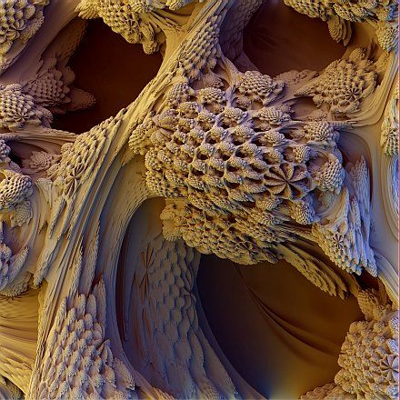 """The famous """"mandelbrot"""" fractal set rediscovered as a 3D universe with the use of modern technology.  Fractals are the thumbprints of God, and now we can explore them from an entirely new perspective!"""