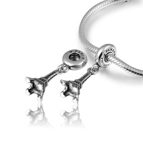 Eiffel Tower Dangle Charm 925 Sterling Silver (