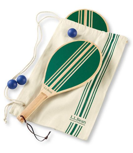 Get a game started in the backyard or at the beach with this portable favorite. This classic outdoor game includes two sturdy wooden paddles and three balls– sure to bring hours of enjoyment. Cotton carry case makes it easy to transport to wherever your next adventure takes you. Imported.