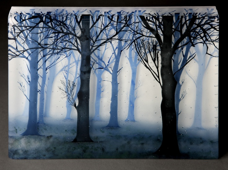 """Trees in Twilight"" by Paul Messink"