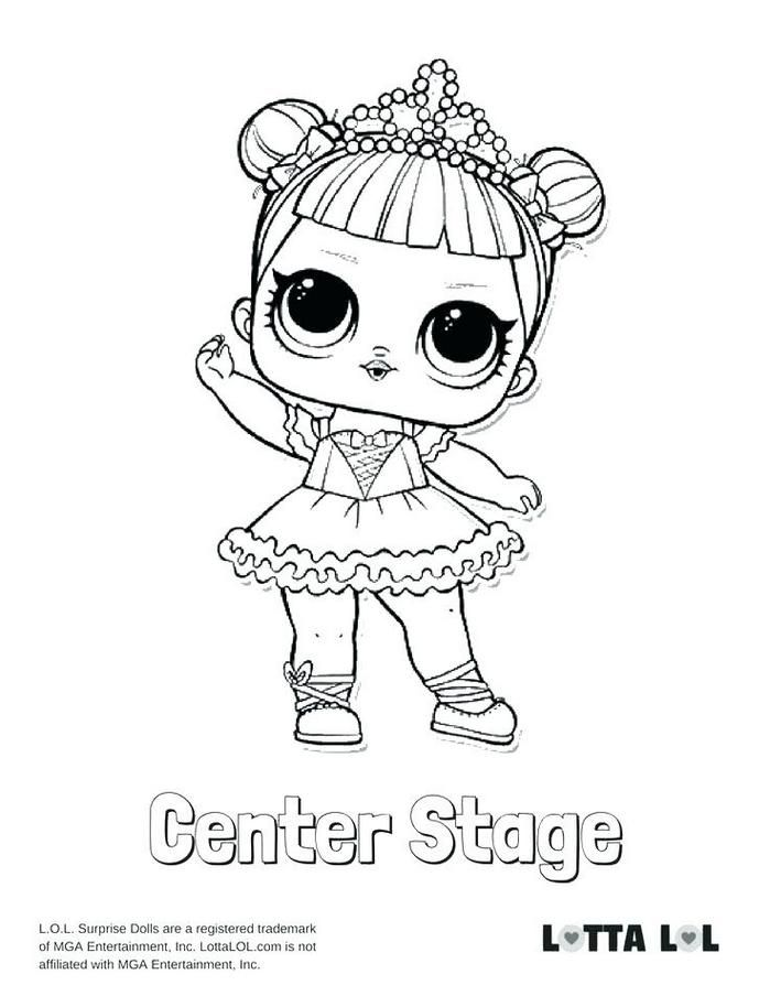 Doll Coloring Page Center Stage Surprise Pages Kitty Queen Lol