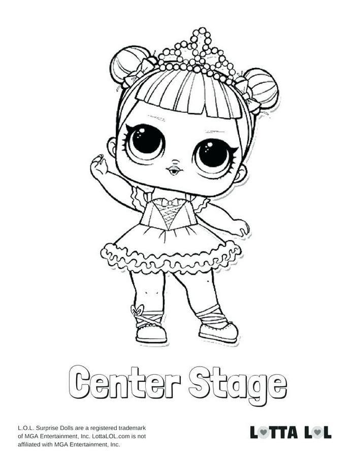 Doll Coloring Page Center Stage Surprise Pages Kitty Queen Lol Sugar Pag Knizhka Raskraska Detskie Raskraski Raskraski