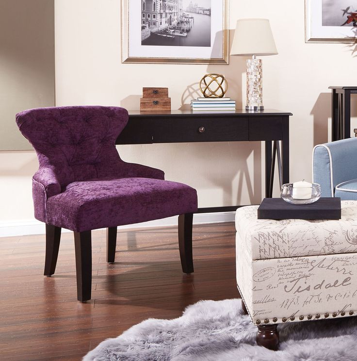 color crushing on this luxurious purple accent chair homestyle