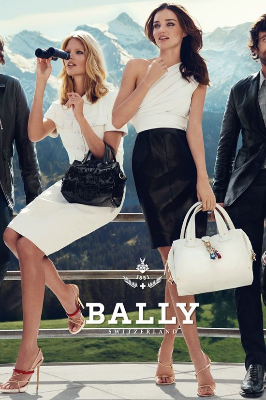 One shoulder top paired with black leather pencil from Bally.
