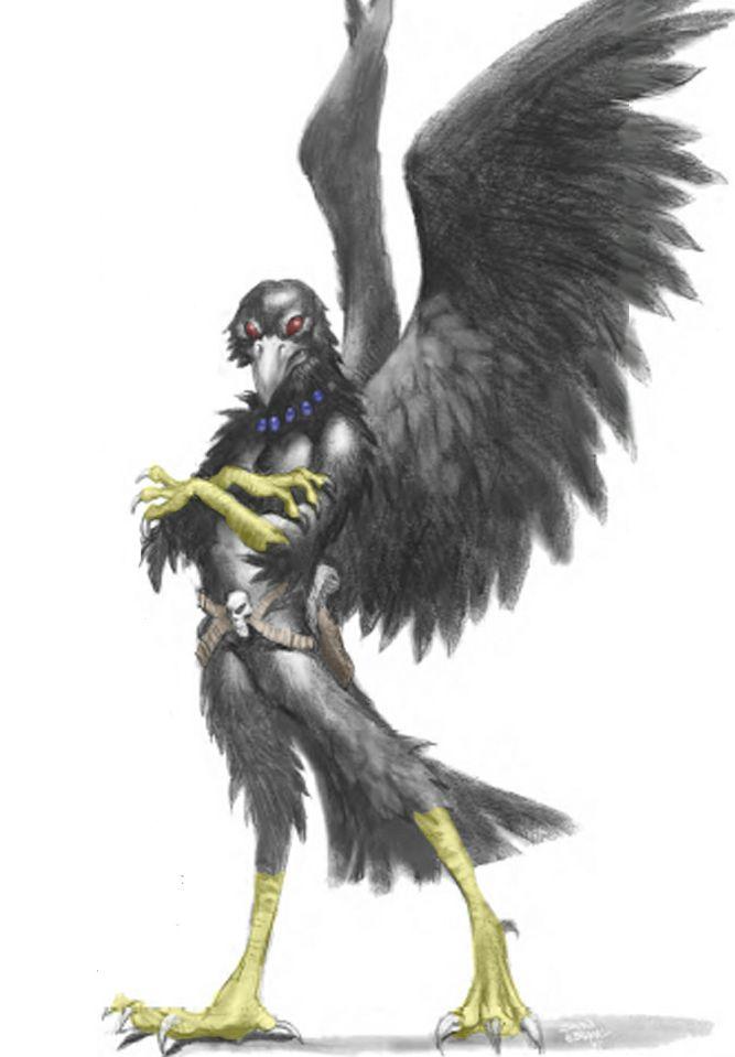 raven crow half man - photo #20