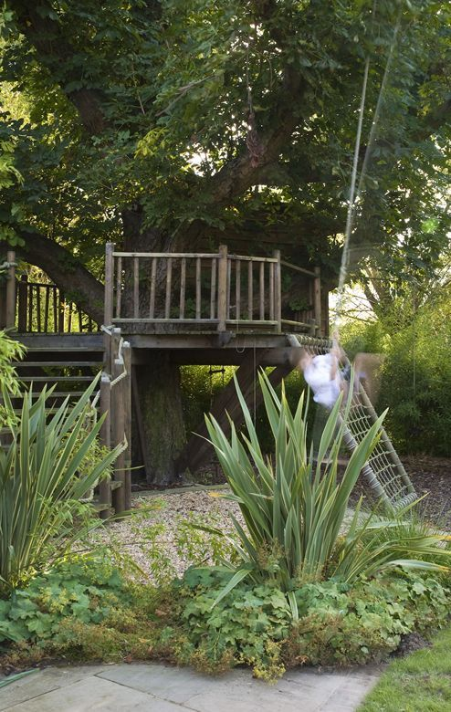 Tree house in need of flower baskets and comfy chairs