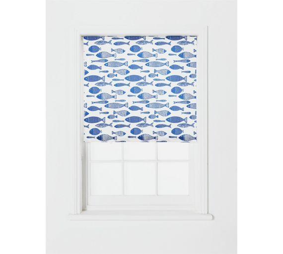 Bathroom? Buy Collection Moisture Resist Fish Roller Blind - 3ft at Argos.co.uk - Your Online Shop for Blinds, Blinds, curtains and accessories, Home furnishings, Home and garden.