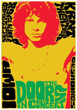 The DOORS Vintage Poster concert in 1968