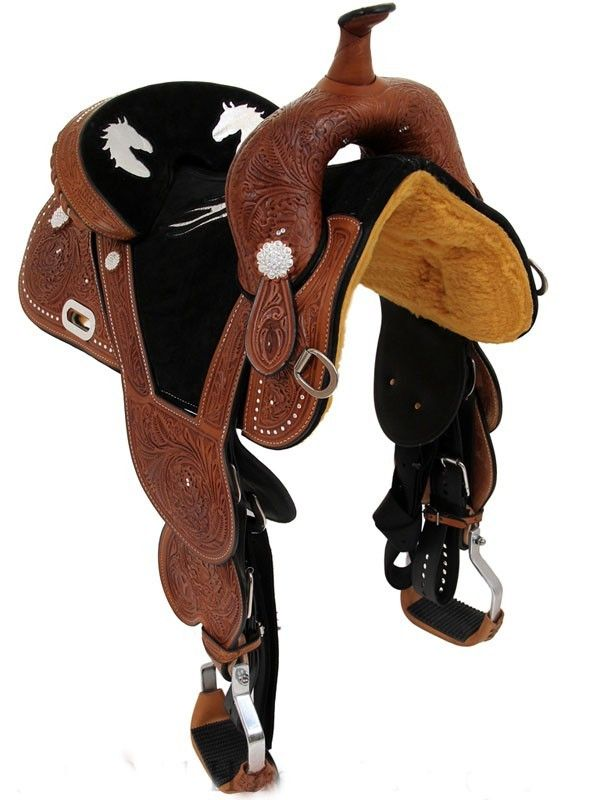Circle Y® Treeless Barrel Saddle With Flames 1331-2554-05