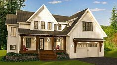 Modern Farmhouse with Optional Finished Lower Level - 14654RK | 2nd Floor Laundry, 2nd Floor Master Suite, Butler Walk-in Pantry, CAD Available, Craftsman, Den-Office-Library-Study, Farmhouse, Media-Game-Home Theater, PDF | Architectural Designs