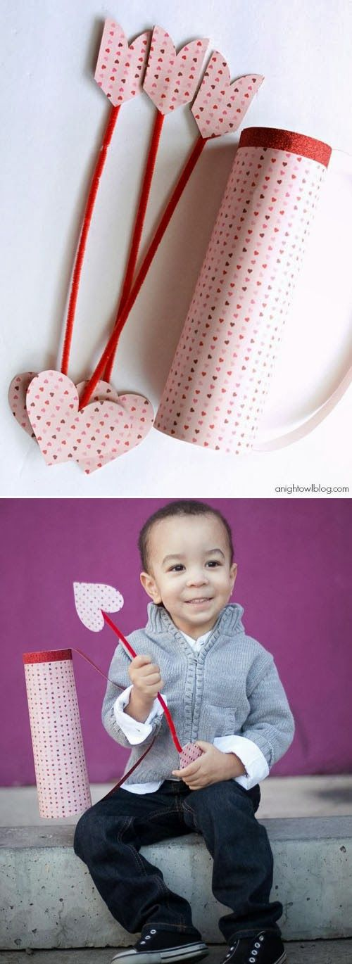 VALENTINE'S CRAFTS - Cupid's arrow and quiver tutorial