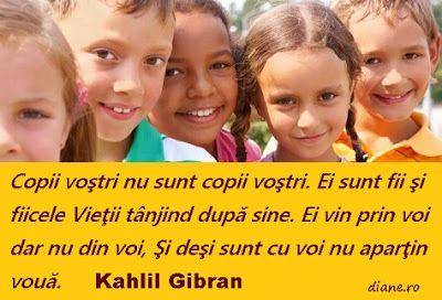 diane.ro: Kahlil Gibran despre copii