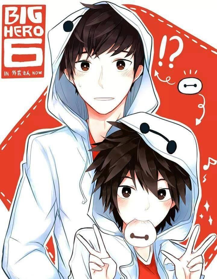 Hiro and Tadashi in Baymax hoddie's. I WANT THAT BAYMAX HOODIE SO MUCH!!!: