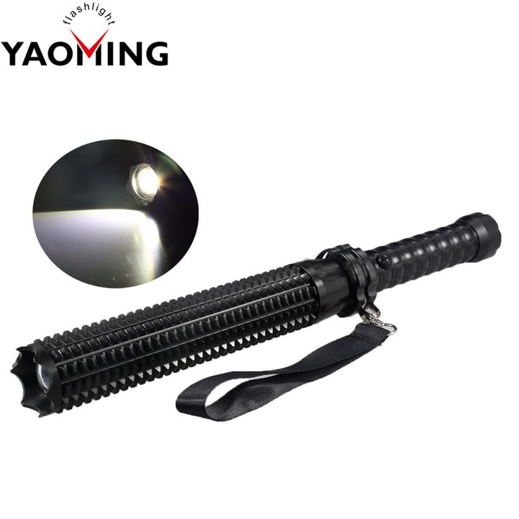 Super Bright Handle Torch Police Military Tactical Self Defense Flashlight with High Quality LED