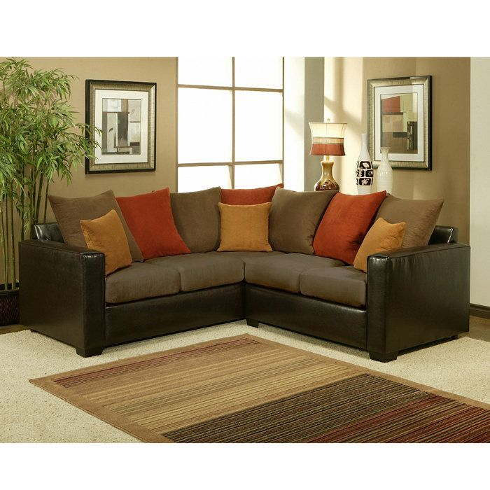 Furniture Of America Bailey 2 Piece Suede Sectional Sofa