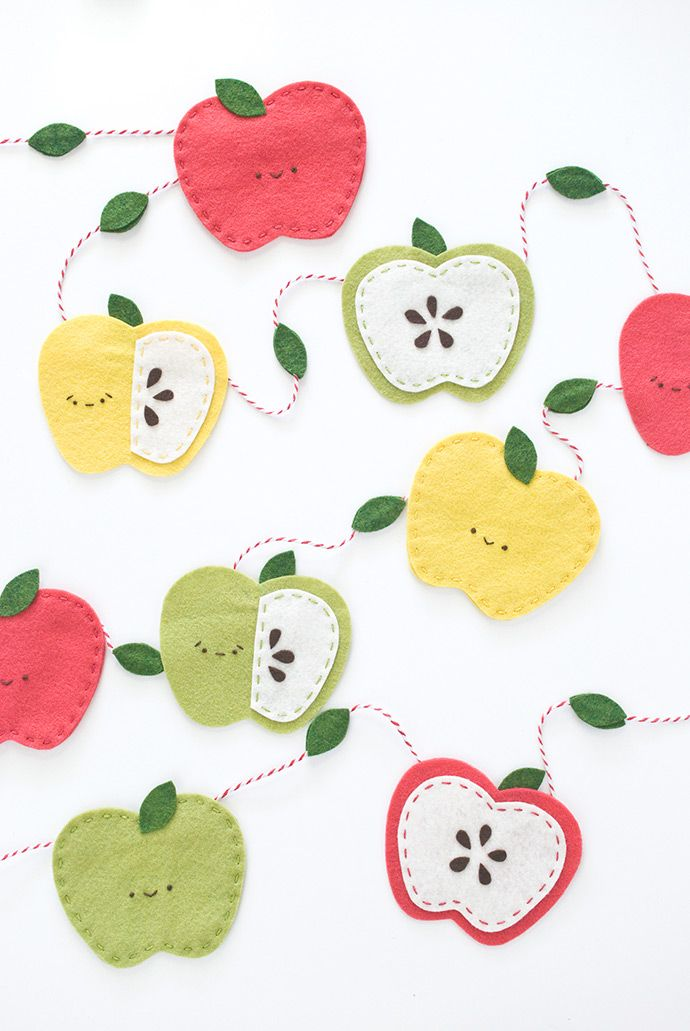 Kawaii Autumn Apple Garland | Handmade Charlotte