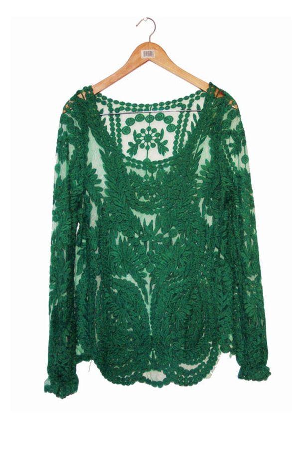 17 Best ideas about Lace Blouses on Pinterest   Blouses ...
