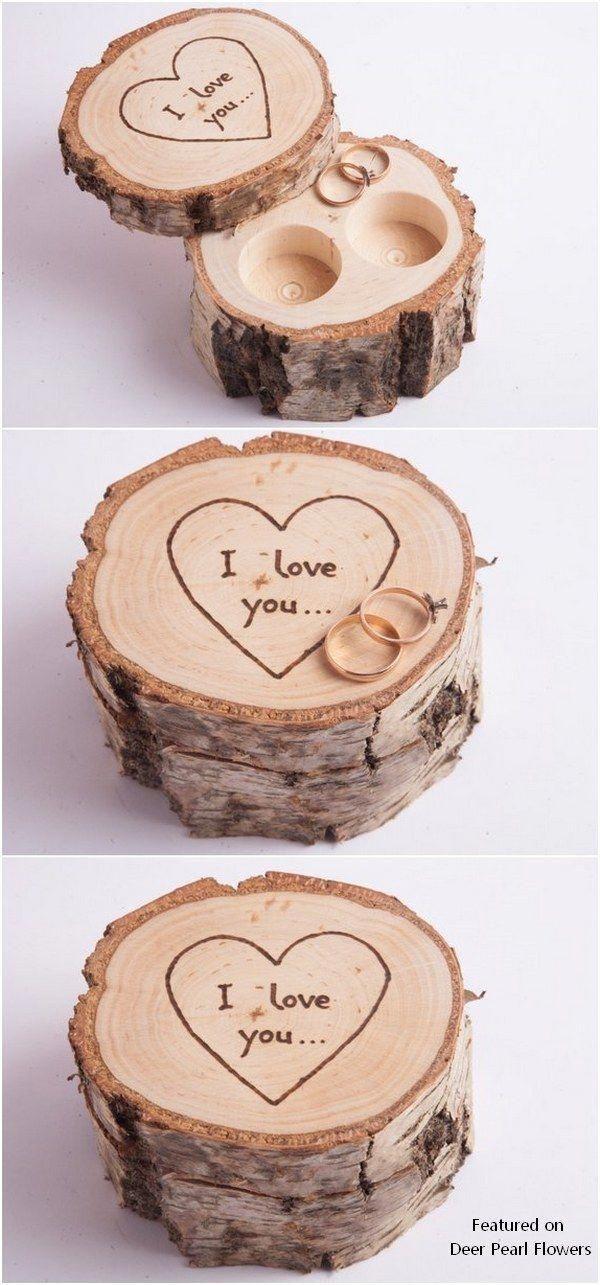 Rustic Tree Stump Birch Wedding Ring Holder Weddings Rusticwedding Weddingideas Countryweddings With Images Ring Bearer Wedding Ring Pillow Wedding Ring Holder Wedding