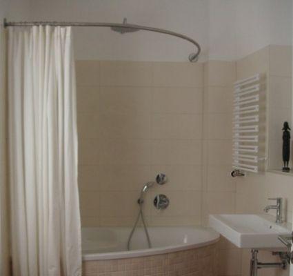 Barre de baignoire d angle extensible tringle a rideau - Tringle rideau douche angle ...