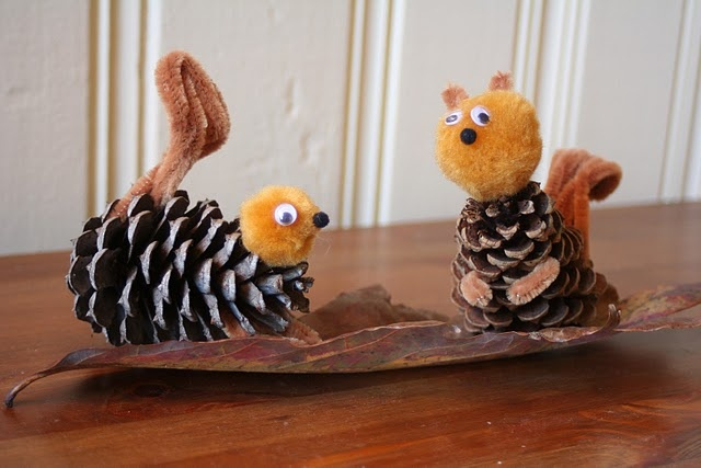 Pinecone squirrels