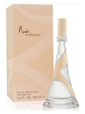 "Nude | Rihanna. Fruity aromas of guava, mandarin and pear are located at the opening of the composition. The heart is blended out of white flowers: gardenia petals, velvety Sambac jasmine and creamy orange blossom. The base consists of sandalwood, vanilla orchid and ""second skin"" musk."
