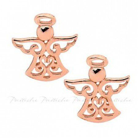Christmas Angel Earrings in Sterling Silver and Rose Gold plated #christmas #earrings #jewellery #NZshopping #NZ #coolstuff