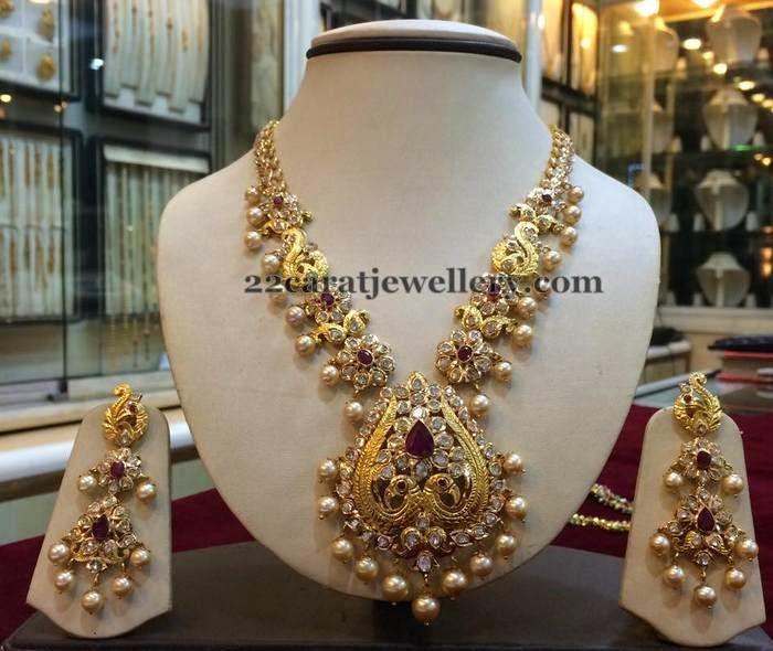 Bridal Diamond Necklace And Haram Set: 139 Best Images About Pachi Sets On Pinterest