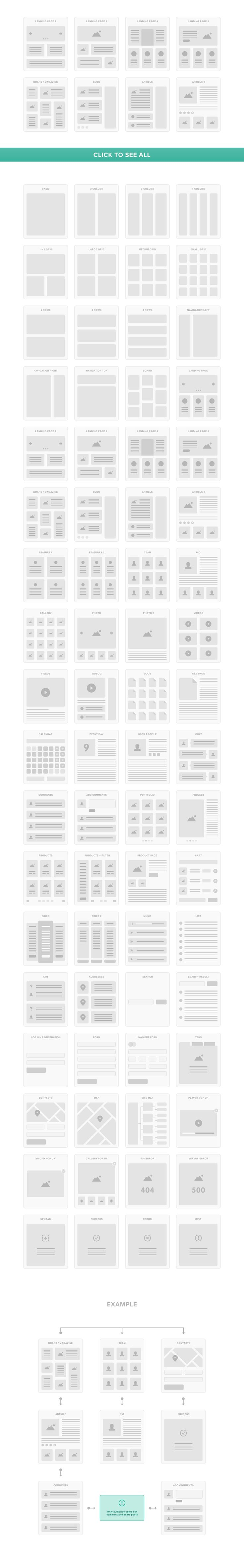 UI Tiles: Website Flowcharts by PixelBuddha on Creative Market