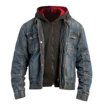 Bilt Iron Workers Steel Denim Motorcycle Jacket With