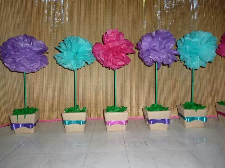 Flower pot centerpieces baby shower pinterest
