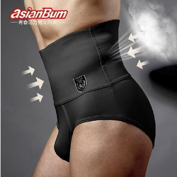 Free shipping ASIANBUM Men's briefs Waist abdomen with a closed belly fat burning shapewear panty girdle male 2 color - Best price in 10minus
