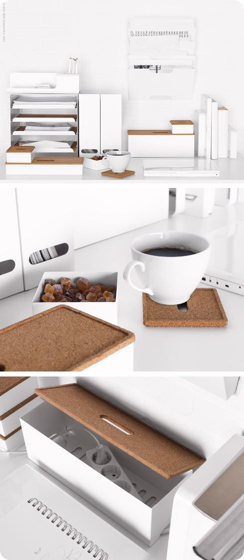 Keep office desks looking professional and clutter free with the KVISSLE series of organizers.
