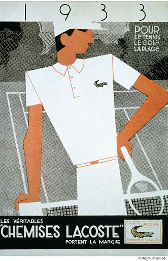"Lacoste is a French clothing company founded in 1933 that sells high-end clothing, footwear, perfume, leather goods, watches, eyewear, and most famously polo shirts.The company can be recognized by its green crocodile logo. René Lacoste, the company's founder, was nicknamed ""the Crocodile"" by fans because of his tenacity on the tennis court."