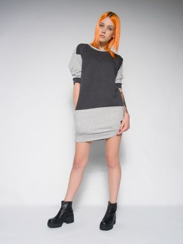 Melange sweat dress Sweat dress from cotton Luxury streetstyle.