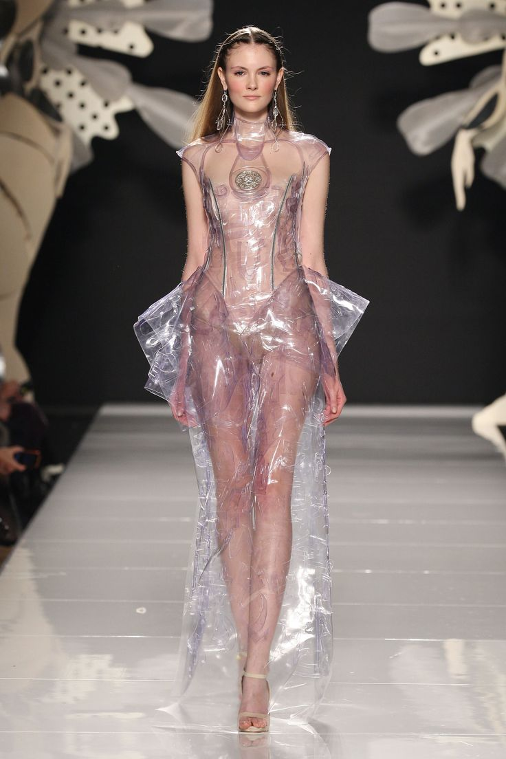 Transparent Plastic Clothing for Women | Each piece was sensationally accessorised with fantastic eyecatching ...
