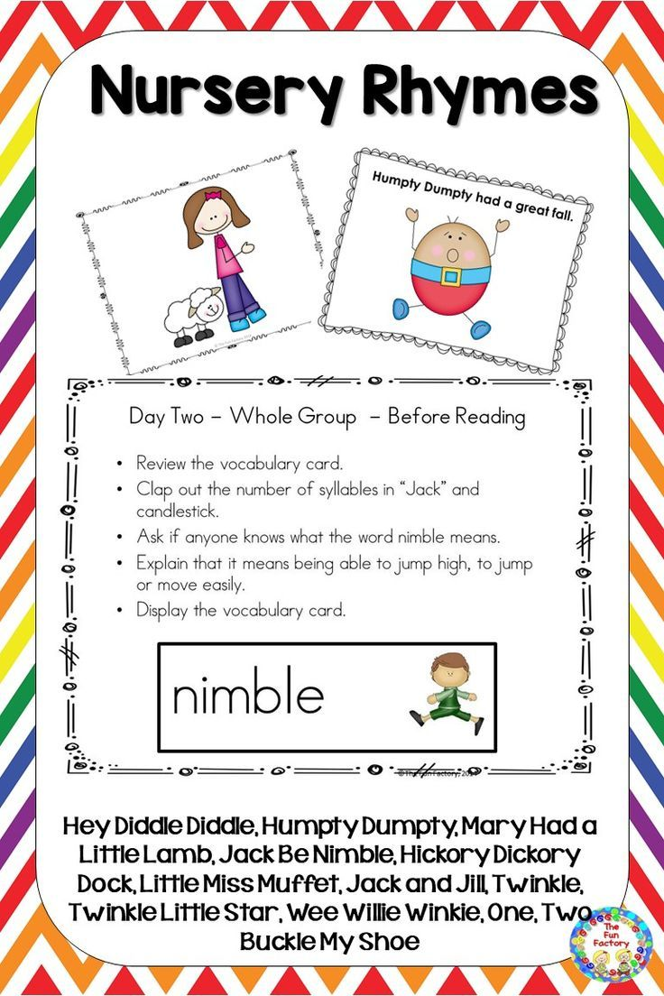 Nursery Rhymes Activities Lesson Plans Centers Worksheets And