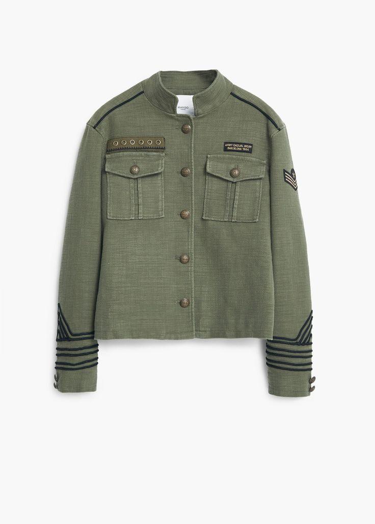Giacca stile militare - Giacche da Donna | MANGO